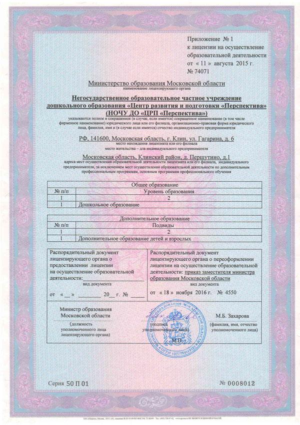 Приложение-к-Лицензии-на осуществление образовательной деятельности НОЧУ ДО ЦРП Перспектива